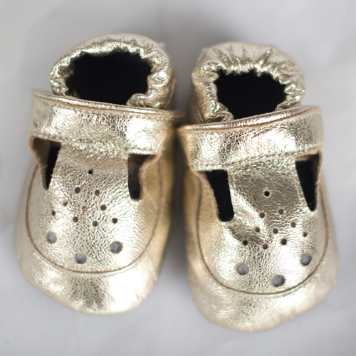 Gold Baby Shoes – Glorious Gold Cheeky Little Soles