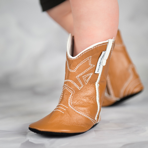 tan baby cowboy boots boots for baby cheeky little soles