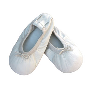 baby ballet slippers - angelic white