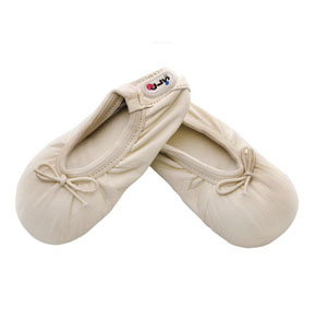 baby ballet slippers - innocent ivory