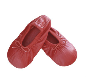 baby ballet slippers - scarlet red