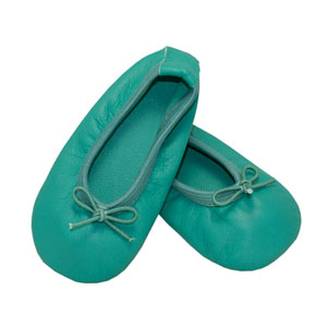 baby ballet slippers - twinkling turquoise