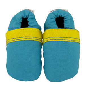 boldly blue fabric baby shoes - discontinued