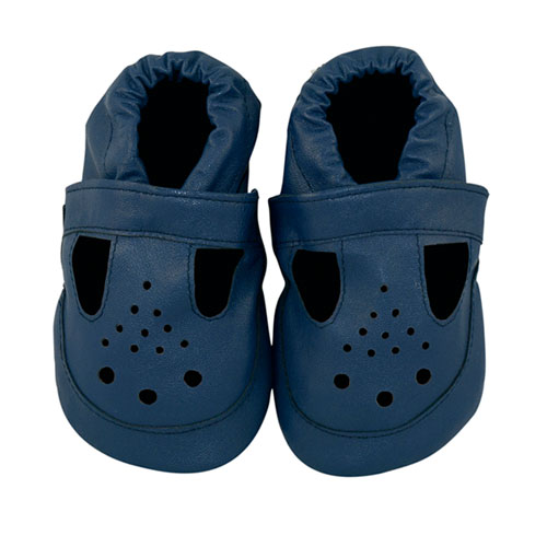 brilliant blue baby sandals
