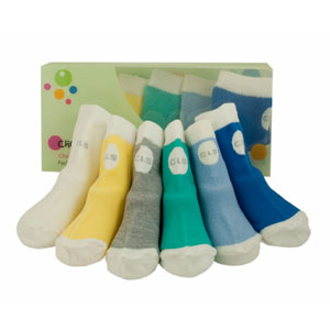 cheeky little box of socks - boys brights selection