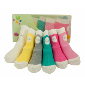 cheeky little box of socks - girls brights selection