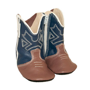 cowboy boots - blue/brown