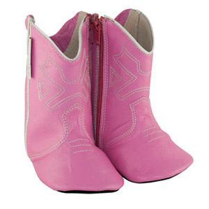 cowboy boots - pink