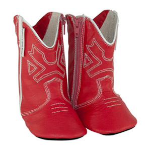 cowboy boots - red