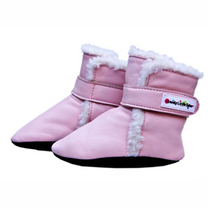polar boots - baby pink