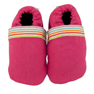 rainbow pink fabric baby shoes - discontinued