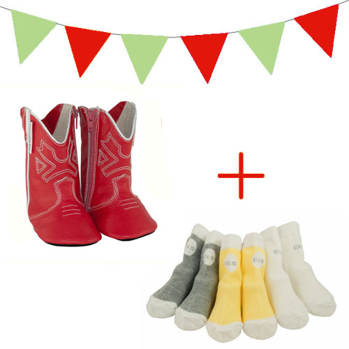 red boots xmas gift pack