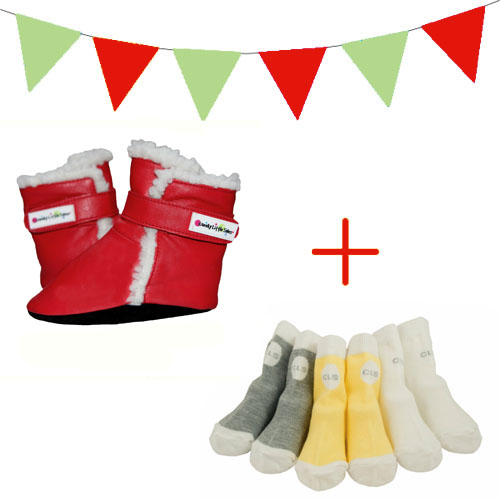 red polar boots xmas pack