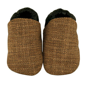 tweed brown/black fabric baby shoes - discontinued